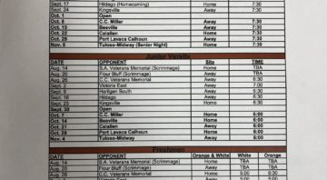 2021 Alice Coyote Football Schedule